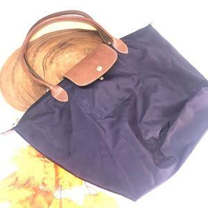 Longchamp Sac Le Pilage Plum Purple Packable Tote